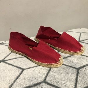Cousu Main Red Espadrilles